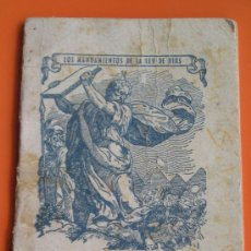 Coleccionismo Calendarios: **ALMANAQUE PARA EL AÑO 1946**PORTADA, LOS MANDAMIENTOS DE LA LEY DE DIOS**(10 X 7,5 CM). Lote 26209589