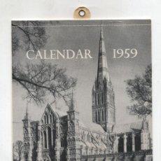Coleccionismo Calendarios: CALENDAR 1959. FROM THE BBC,LONDON. Lote 22117080