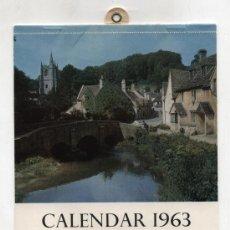 Coleccionismo Calendarios: CALENDAR 1963. FROM THE BBC, LONDON.. Lote 22117180