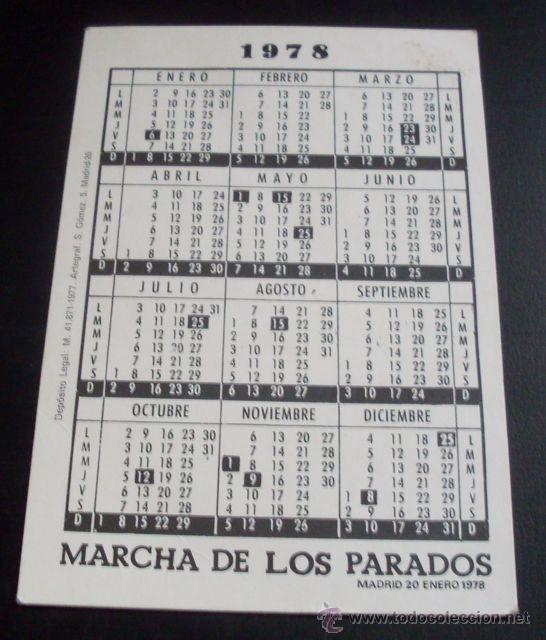 Calendario Enero 1978.Calendario De Bolsillo 1978 Forges Marcha De Los Parados 20 Enero 1978