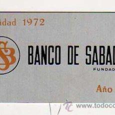 Coleccionismo Calendarios: CALENDARIO 1973 METALICO - BANCO DE SABADELL. Lote 22954927