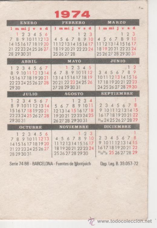Calendario 1974.Calendario 1974 Localidades De Espana Barcelona Fuentes De Montjuich