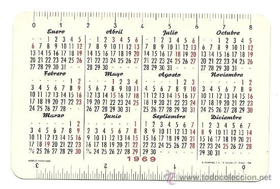 Calendario Del Ano 1969.Calendario Fournier Del Banco De Bilbao Ano 1969