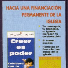 Coleccionismo Calendarios: CALENDARIO DE BOLSILLO 1996 - OBRAS PARROQUIALES DE ACONDICIONAMIENTO DE SAN ROMAN. Lote 23270264