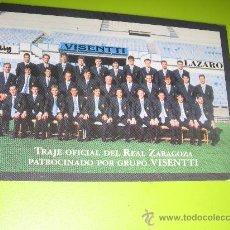 Coleccionismo Calendarios: CALENDARIO BOLSILLO FUTBOL 2001 (PLANTILLA REAL ZARAGOZA - PUBLICITARIO VISENTTI) BIEN. Lote 23423840