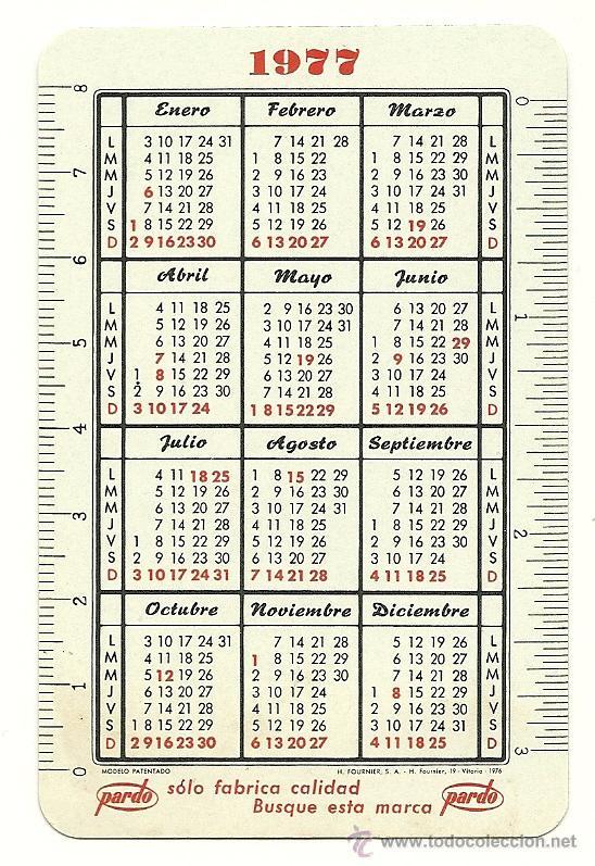 Calendario Del 1977.Calendario Fournier De Pardo Ano 1977 78 Sold At Auction