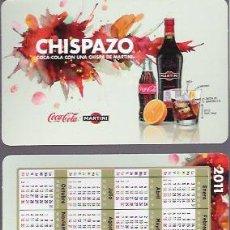 Coleccionismo Calendarios: CALENDARIO DEL 2011, CHISPAZO, COCA COLA CON MARTINI.. Lote 133600027