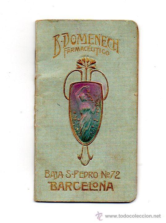 Calendario 1906.Calendario 1906 B Domenech Farmaceutico Barcelona