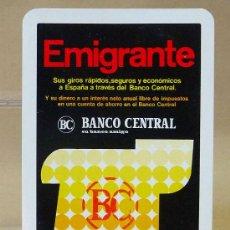 Coleccionismo Calendarios: CALENDARIO DE BOLSILLO, 1977, BANCO CENTRAL, BC, EMIGRANTE, FOURNIER. Lote 24164372