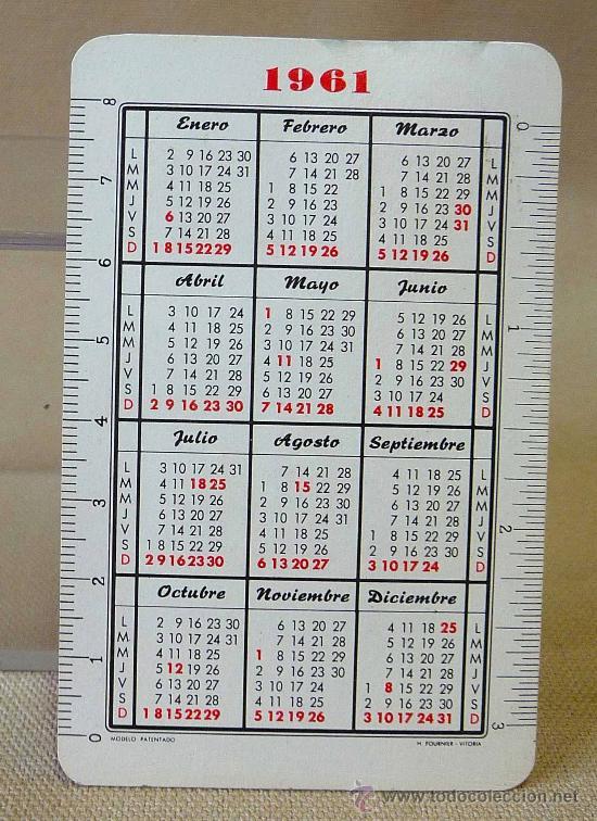 Calendario Del 1961.Calendario 1961 Cervezas El Turia Fournier