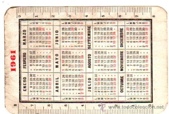 Calendario Del 1961.Calendario 1961 Graficas Sorianas Ver Reverso