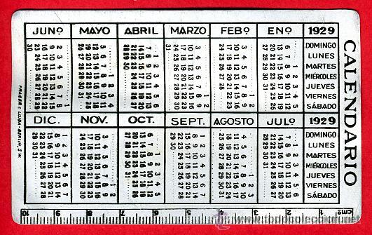 Calendario 1929.Calendario Bolsillo Publicidad Jarabe Orive Sold At