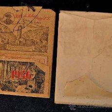 Coleccionismo Calendarios: ANTIGUO CALENDARIO FABRICADO TODO EN CORCHO, RARO. 1946. TABACO DE ANDORRA. FILLS DE JULIO REIG. . Lote 26792886