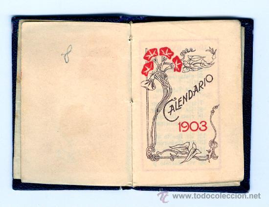 Mini Calendario.Cartagena 1903 Mini Calendario