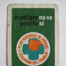 Coleccionismo Calendarios: CALENDARIO FOURNIER, PLAN NACIONAL DE HIGIENE, DE 1973. Lote 25346594