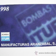 Coleccionismo Calendarios: CALENDARIO FOURNIER, ITUR, DE 1998. Lote 26735770