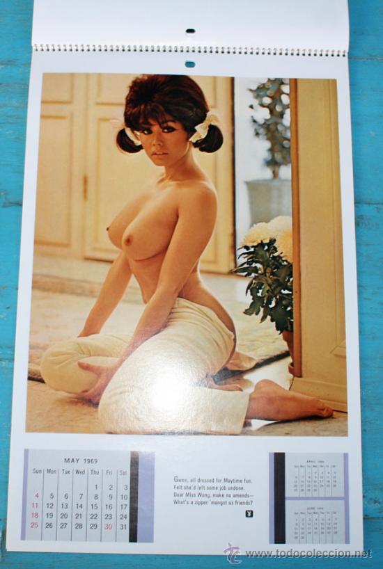 Calendario Play Boy.Antiguo Calendario De Playboy Original Ano 19 Sold