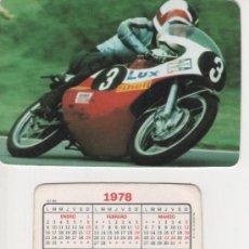 Coleccionismo Calendarios: CALENDARIO 1978 - MOTOCICLISMO. Lote 25651897