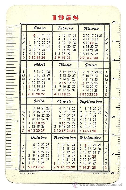 Calendario 1958.Fournier 1958 Calendario De Ntra Sra De Lourdes Ano 1958 Hf3