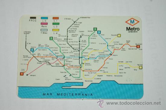 Calendario De Bolsillo Mapa Metro Barcelona Comprar