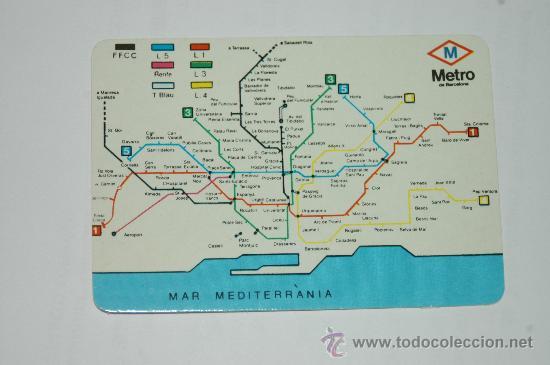 Calendario De Bolsillo Mapa Metro Barcelona Buy Old Calendars