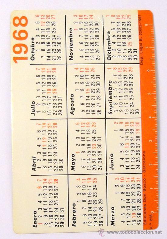 Calendario 1968.Calendario 1968 Don Bosco Nº 226 Virgen