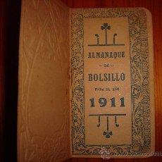Coleccionismo Calendarios: CALENDARIO ALMANAQUE DE 1911 DE BOLSILLO EL MAGISTERIO CARTAGENA. Lote 26815942