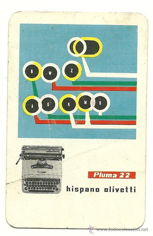FOURNIER 1959. CALENDARIO DE HISPANO OLIVETTI. AÑO 1959. (HF3) (Coleccionismo - Calendarios)