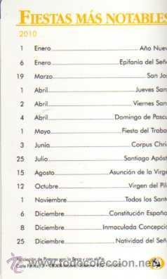 Coleccionismo Calendarios: CALENDARIO DIPTICO 2010 - Foto 2 - 27285351