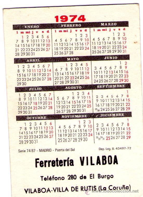 Calendario 1974.1616 Calendario 1974 Madrid Puerta Del Sol