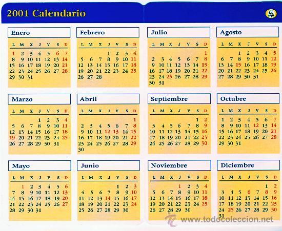 Calendario 2001.Calendario 2001 Asociacion De Pintores Con La Boca Y Con El Pie 1