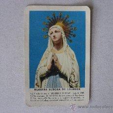 Coleccionismo Calendarios: CALENDARIO FOURNIER 1958,NUESTRA.SEÑORA DE LOURDES.. Lote 27604414