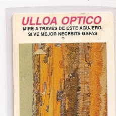 Coleccionismo Calendarios: CALENDARIO 1998, ULLOA OPTICO. Lote 27937355