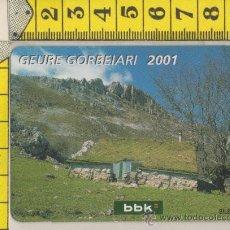 Coleccionismo Calendarios: CALENDARIO DE BOLSILLO DE BANCO CAJA BBKA BILBAO KUTXA AÑO 2001. Lote 28154248