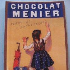 Coleccionismo Calendarios: CALENDARIO DE 1961. CHOCOLAT MENIER. NIÑA COLETAS CHOCOLATE. 90. ANTIGUO ANUNCIO. . Lote 28340583