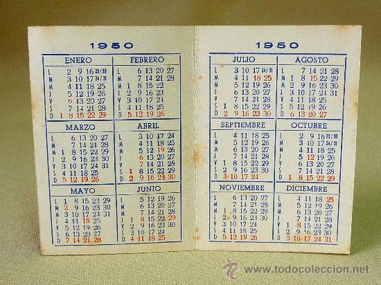 Calendario 1950.Calendario 1950 Cantos Y Ripoll Valencia