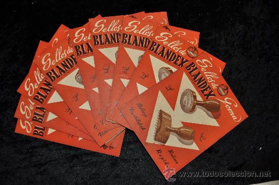 LOTE DE 9 CALENDARIOS DE SELLOS DE GOMA BLANDEX. AÑO 1951. (Coleccionismo - Calendarios)