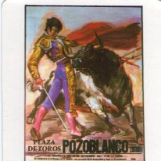 Coleccionismo Calendarios: 1588- CALENDARIO - 1986- TOROS.: FATIDICO CARTEL DE POZOBLANCO. Lote 28562352