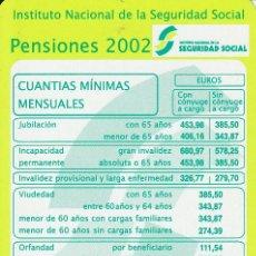 Coleccionismo Calendarios: CALENDARIO DE BOLSILLO AÑO 2002 (CALENDARIOS, ). Lote 28716619