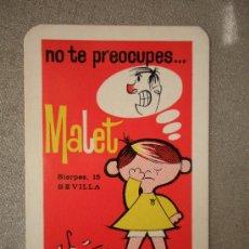 Coleccionismo Calendarios: CALENDARIO OPTICA MALET DE SEVILLA 1968, NUEVO. Lote 28971028