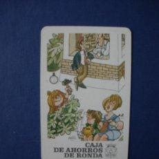 Coleccionismo Calendarios: CALENDARIO HERACLIO FOURNIER 1987 CAJA DE AHORROS DE RONDA ( MINGOTE ). Lote 29037513