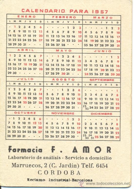 Calendario Del Ano 1957.Calendario Marlon Brando Ano 1957 Publicidad De Cordoba
