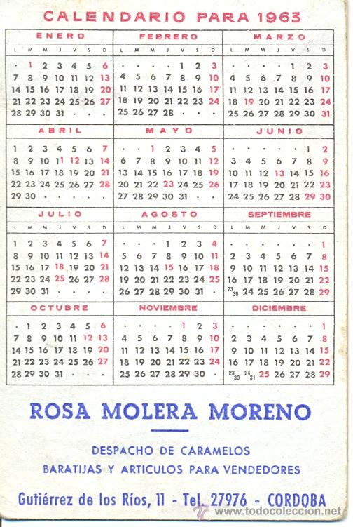 Calendario 1963.Calendario Sarita Montiel Ano 1963 Publicida Sold Through Direct