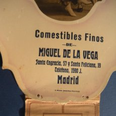 Coleccionismo Calendarios: ANTIGUO CALENDARIO DE 1926 COMESTIBLES FINOS MIGUEL DE LA VEGA, MADRID. COMPLETO . JULES GERZÓN.. Lote 29102908