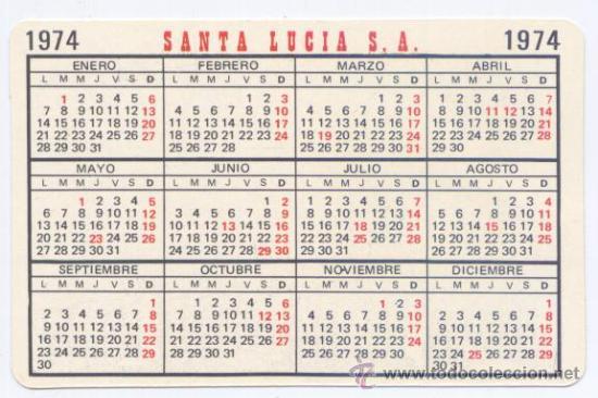 Calendario 1974.Calendario Seguros Santa Lucia Ano 1974 Sold At