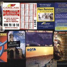 Coleccionismo Calendarios: LOTE 10 CALENDARIOS PUBLICITARIOS. Lote 29350124