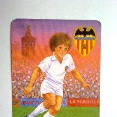 Coleccionismo Calendarios: CALENDARIO FUTBOL VALENCIA CF , 1991, CON PUBLICIDAD VER FOTO. Lote 29405142