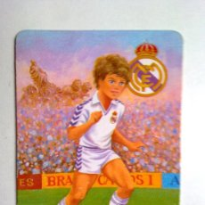 Coleccionismo Calendarios: CALENDARIO FUTBOL REAL MADRID , 1991, CON PUBLICIDAD VER FOTO. Lote 29405361