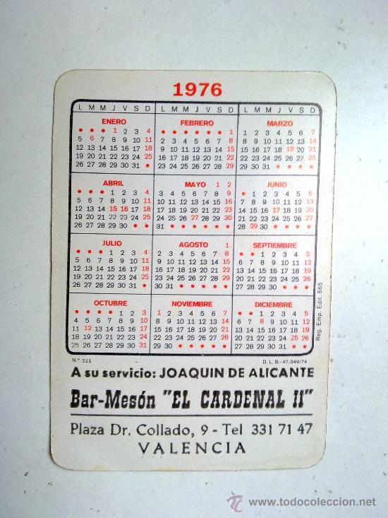 Coleccionismo Calendarios: ANTIGUO CALENDARIO UN FLORIN CON PUBLICIDAD AÑO 1976 - Foto 2 - 29413715