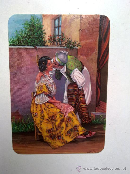 ANTIGUO CALENDARIO PAREJA VALENCIANA CON ROPA TIPICA AÑO 1991 (Coleccionismo - Calendarios)